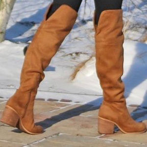 Melrose and Market brown over the knee boots 7.5